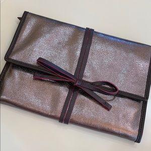 metallic Stella & Dot travel jewelry case